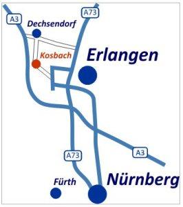 Plan Anfahrt nach Kosbach