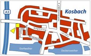 Ortsplan Kosbach